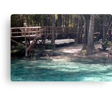 Canoes at Blue Springs Canvas Print