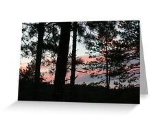 Sunset on the mountain #1 Greeting Card