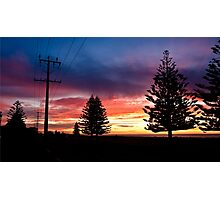 Hamilton Sunset Photographic Print