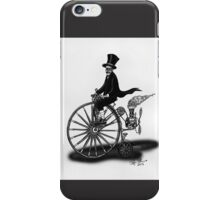 STEAMPUNK PENNY FARTHING BICYCLE (BLACK AND WHITE) iPhone Case/Skin