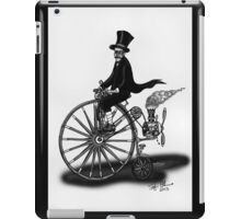 STEAMPUNK PENNY FARTHING BICYCLE (BLACK AND WHITE) iPad Case/Skin