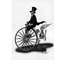 STEAMPUNK PENNY FARTHING BICYCLE (BLACK AND WHITE) Photographic Print