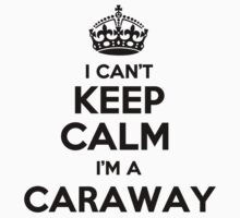 I cant keep calm Im a CARAWAY by icant