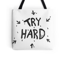 ↳ try hard ↵ Tote Bag