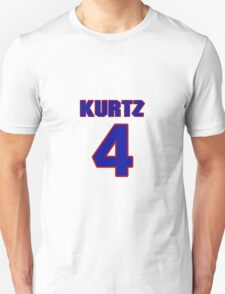 National Hockey player Justin Kurtz jersey 4 T-Shirt