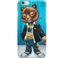 Cool For School Cat Drawing by Al Rio iPhone Case/Skin