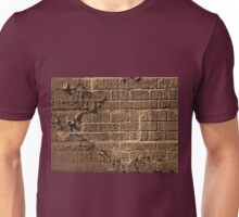 Textured red bricks wall digital art  Unisex T-Shirt