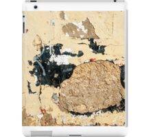 Grunge wall in closeup iPad Case/Skin