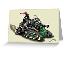 STEAMPUNK 'CAN AM' SPYDER STYLE KNIGHT RIDER MOTORCYCLE Greeting Card
