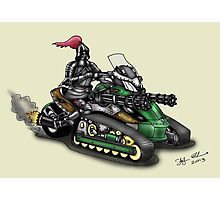 STEAMPUNK 'CAN AM' SPYDER STYLE KNIGHT RIDER MOTORCYCLE Photographic Print