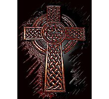Celtic Cross of Old Photographic Print