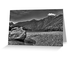 Mountain Stream BW Greeting Card