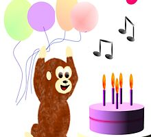 Funky monkey birthday card by EddyG