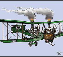 WORLD WAR ONE BOMBER AEROPLANE VICKERS VIMY STYLE STEAMPUNK by squigglemonkey