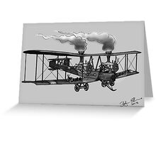 WW1 VICKERS VIMY AEROPLANE BOMBER STEAMPUNK (BLACK AND WHITE) Greeting Card