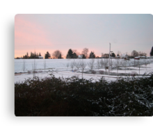 snow sunrise Canvas Print