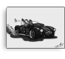 STEAMPUNK AC COBRA CAR (BLACK AND WHITE) Canvas Print