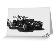 STEAMPUNK AC COBRA CAR (BLACK AND WHITE) Greeting Card