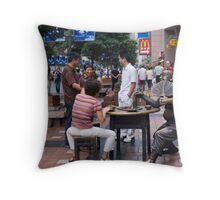 food street Throw Pillow