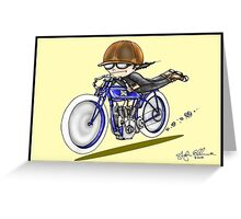 MOTORCYCLE EXCELSIOR STYLE (yellow) Greeting Card