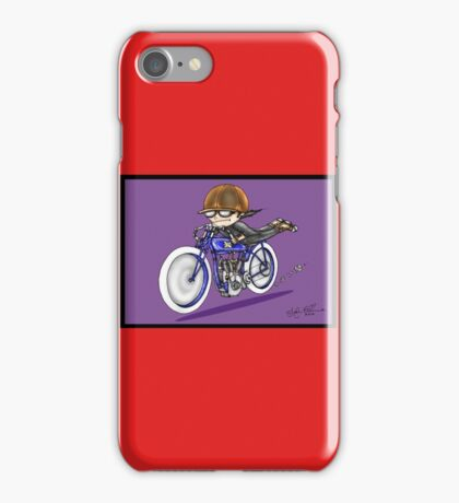 MOTORCYCLE EXCELSIOR STYLE (purple) iPhone Case/Skin
