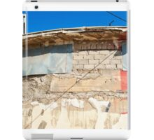 Grunge wall with clear blue sky iPad Case/Skin