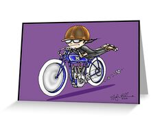MOTORCYCLE EXCELSIOR STYLE (purple) Greeting Card