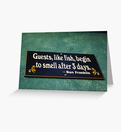 The Wisdom of Ben Greeting Card