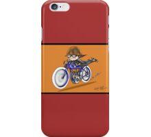 MOTORCYCLE EXCELSIOR STYLE (orange) iPhone Case/Skin