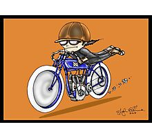 MOTORCYCLE EXCELSIOR STYLE (orange) Photographic Print