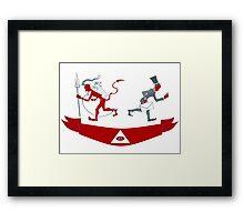 Corporate Krampus Framed Print