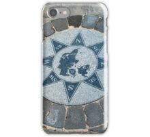 Compass directions wind rose iPhone Case/Skin