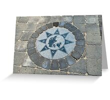 Compass directions wind rose Greeting Card