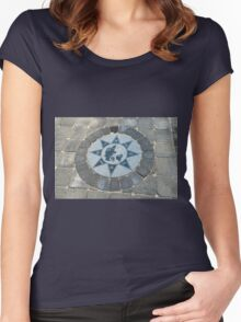 Compass directions wind rose Women's Fitted Scoop T-Shirt