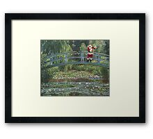 The Japanese Bridge At Christmas Time Framed Print