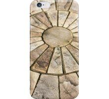 Display of stone floor tiles circle iPhone Case/Skin