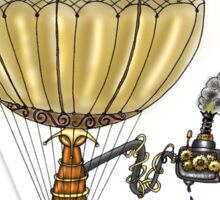 STEAMPUNK HOT AIR BALLOON Sticker