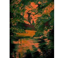 reflections at mill pond Photographic Print