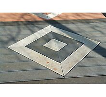 Details of geometric gray stone garden tiles Photographic Print