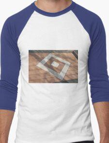 Details of geometric brown stone garden tiles Men's Baseball ¾ T-Shirt