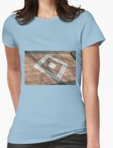 Details of geometric brown stone garden tiles Womens Fitted T-Shirt