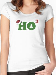 Ho Cubed Merry Christmas Women's Fitted Scoop T-Shirt