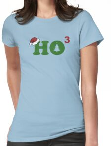 Ho Cubed Merry Christmas Womens Fitted T-Shirt