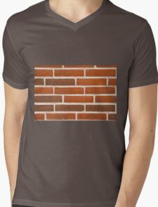 Background of brick wall texture Mens V-Neck T-Shirt