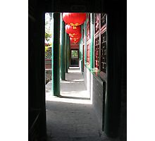 Lanterns in the Doorway Photographic Print