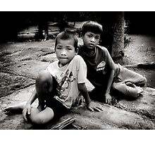 Angkor boys Photographic Print