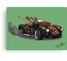 Steampunk Cobra (Green) Canvas Print