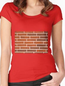 Background of brick wall texture Women's Fitted Scoop T-Shirt