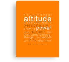 Mental Attitude Canvas Print