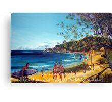 Agnes Water - the tourists Canvas Print